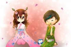 Shinu und Shiki Frühlingsversion